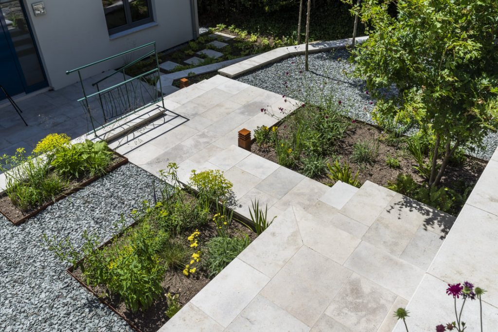 Renovated Patio With Trees & Gravel